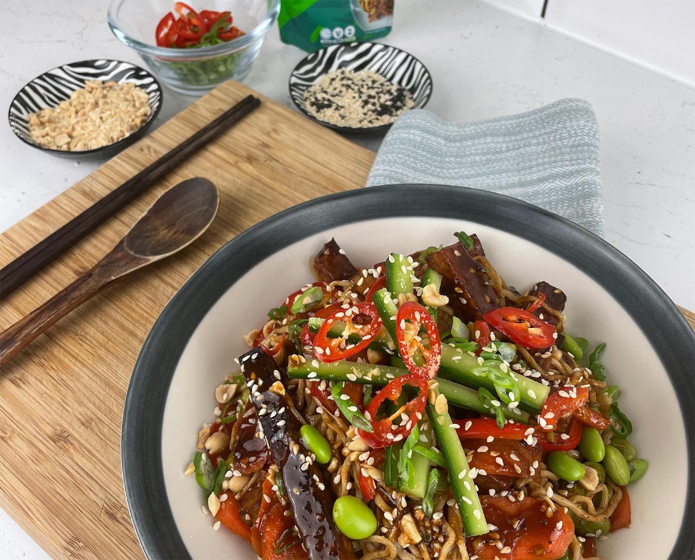 tofu yakisoba salad